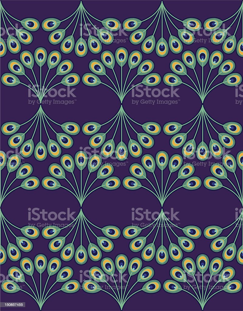 Peacock Pattern 2 vector art illustration