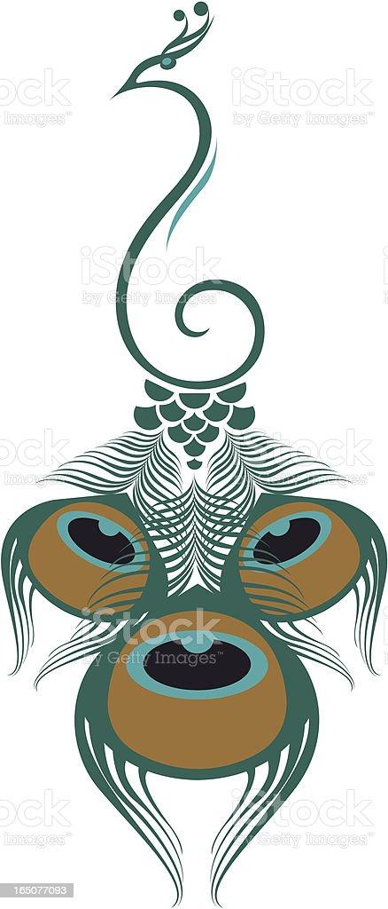 Peacock. vector art illustration