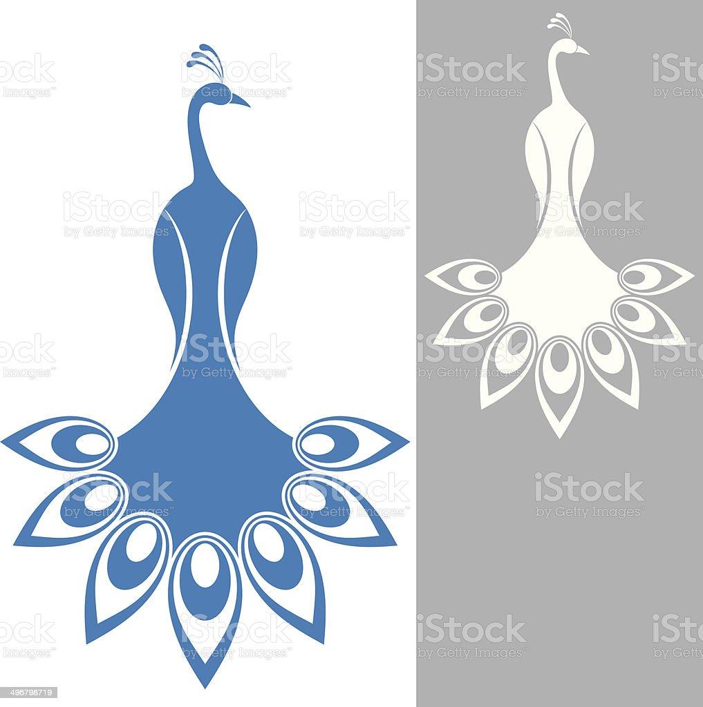 Peacock vector art illustration