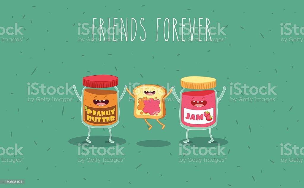 Peanut butter vector art illustration