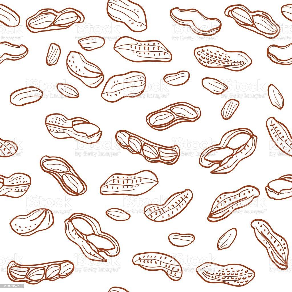 Peanuts pattern vector art illustration
