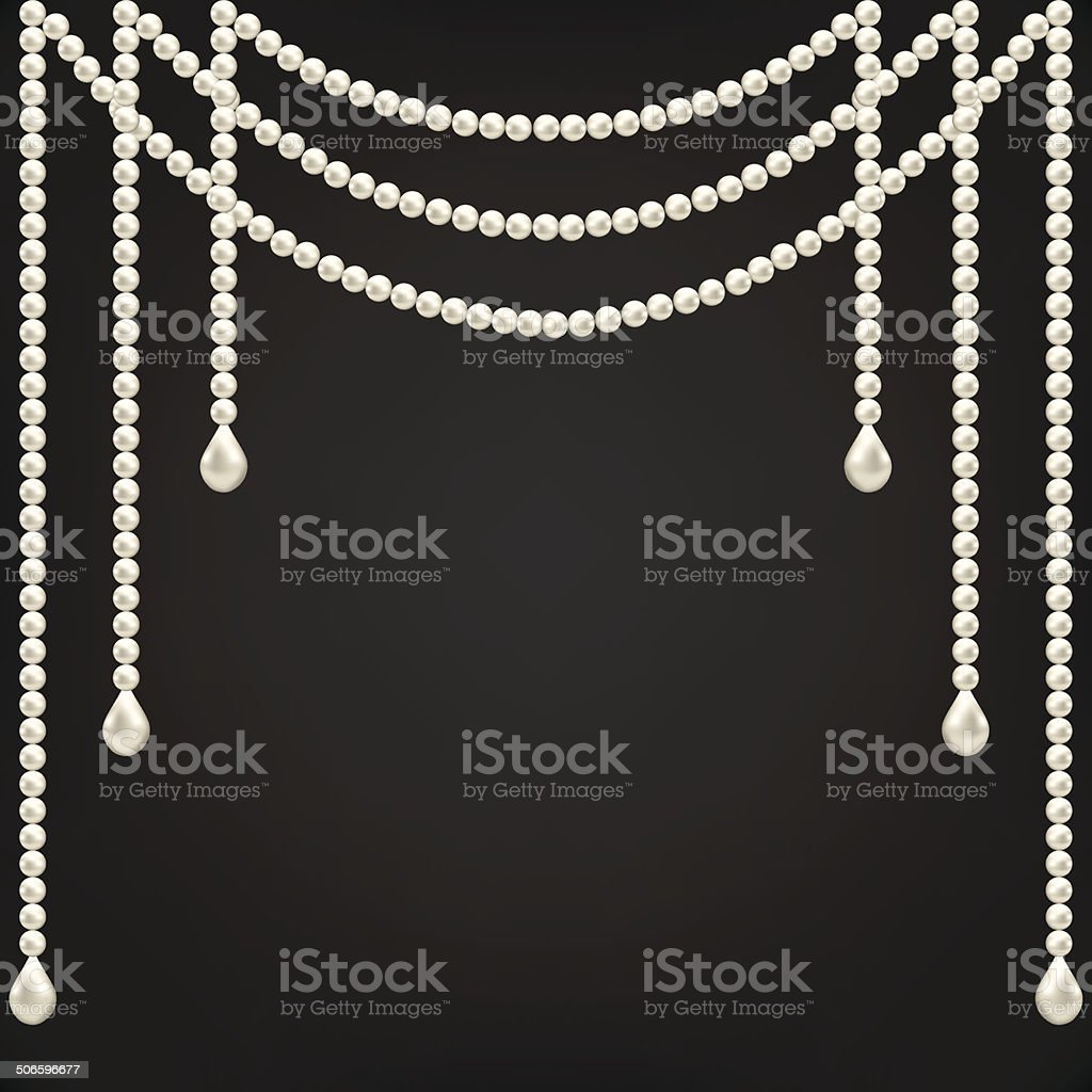 pearl decoration vector art illustration