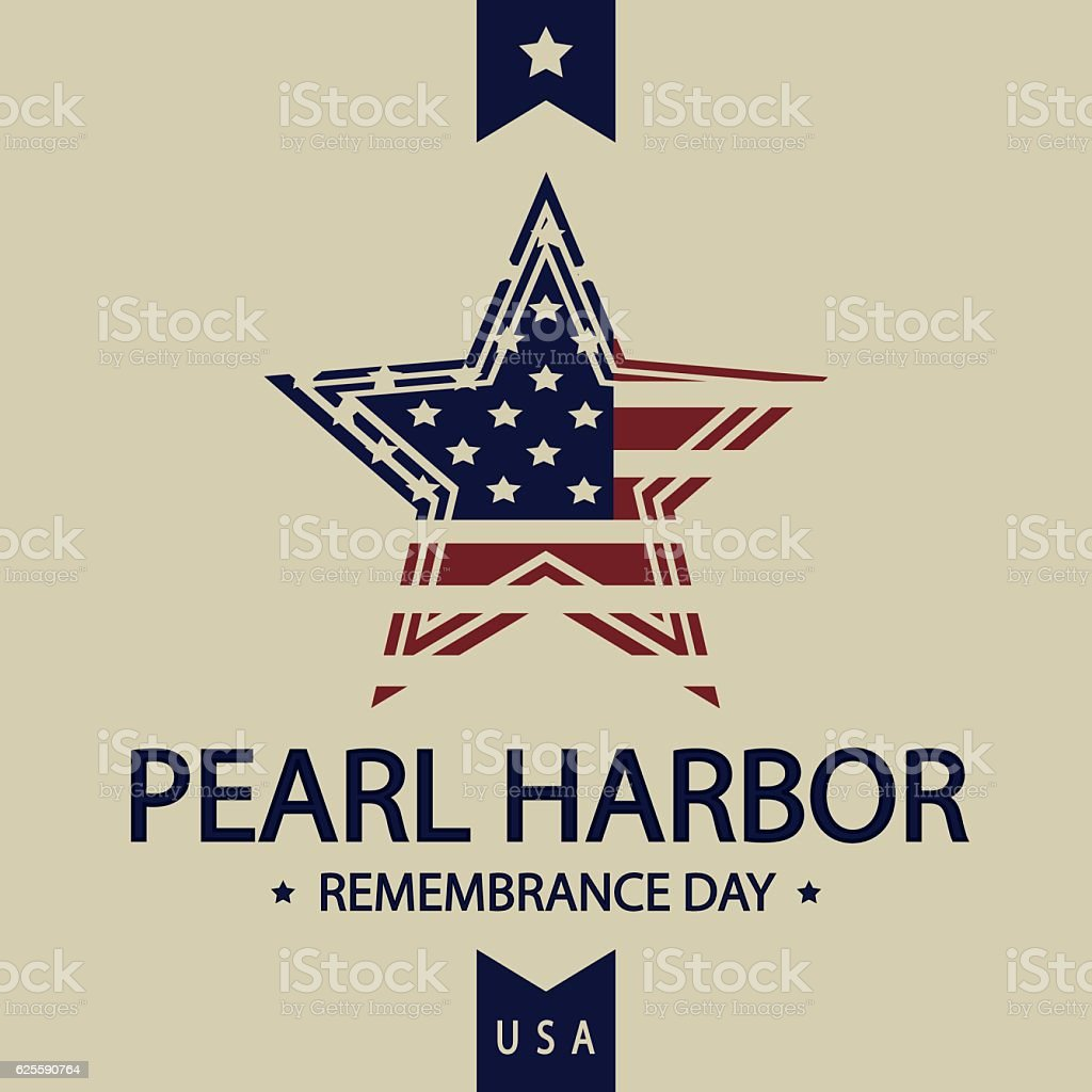 Pearl Harbor Remembrance Day vector art illustration