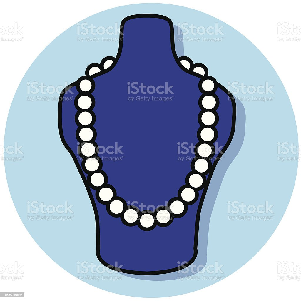 pearl necklace royalty-free stock vector art