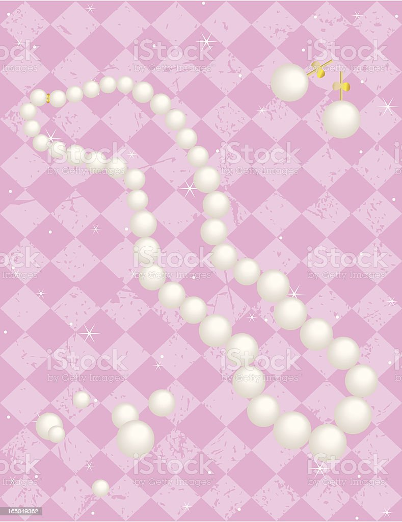Pearl Necklace vector art illustration