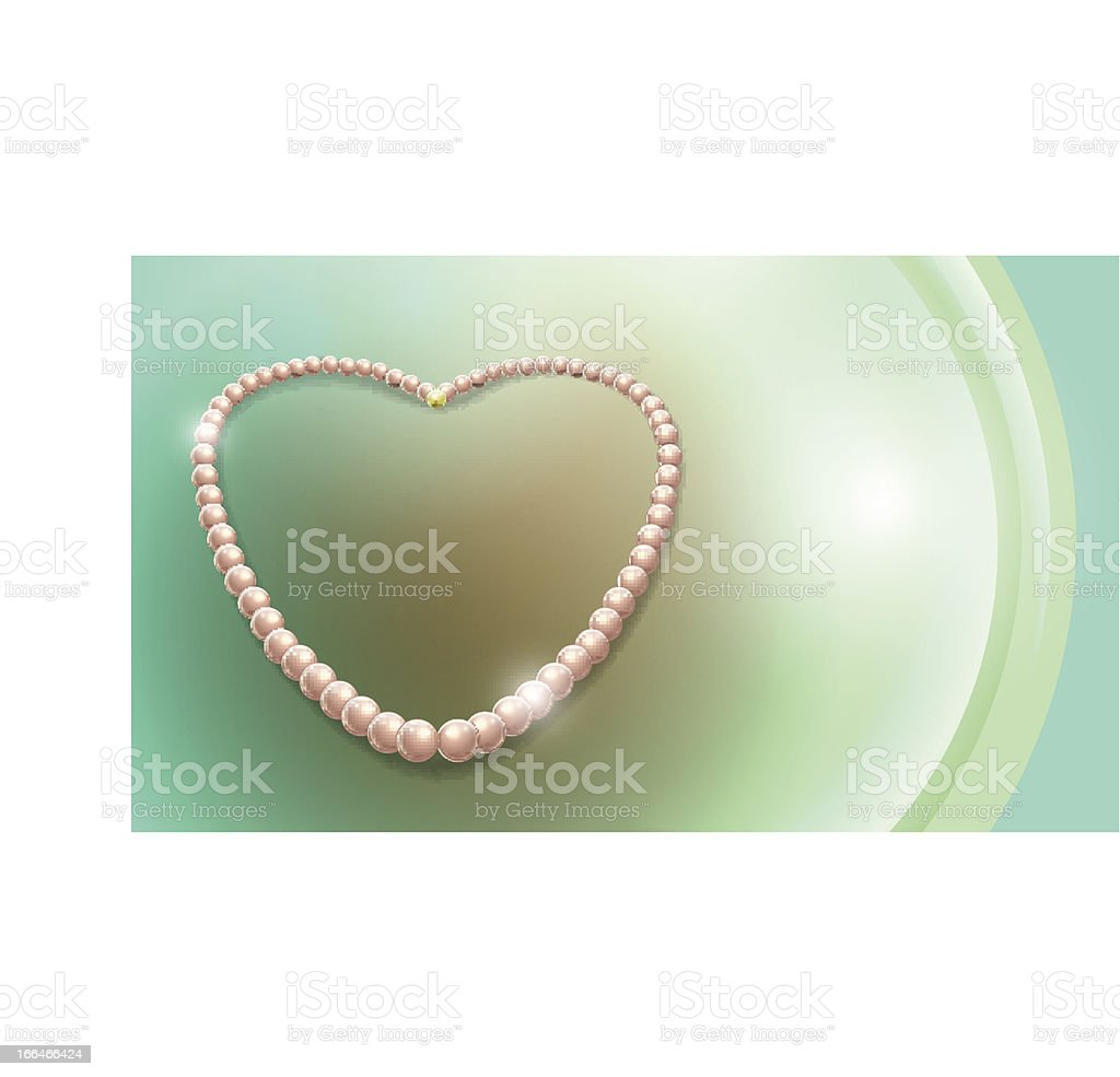 pearls necklace royalty-free stock vector art