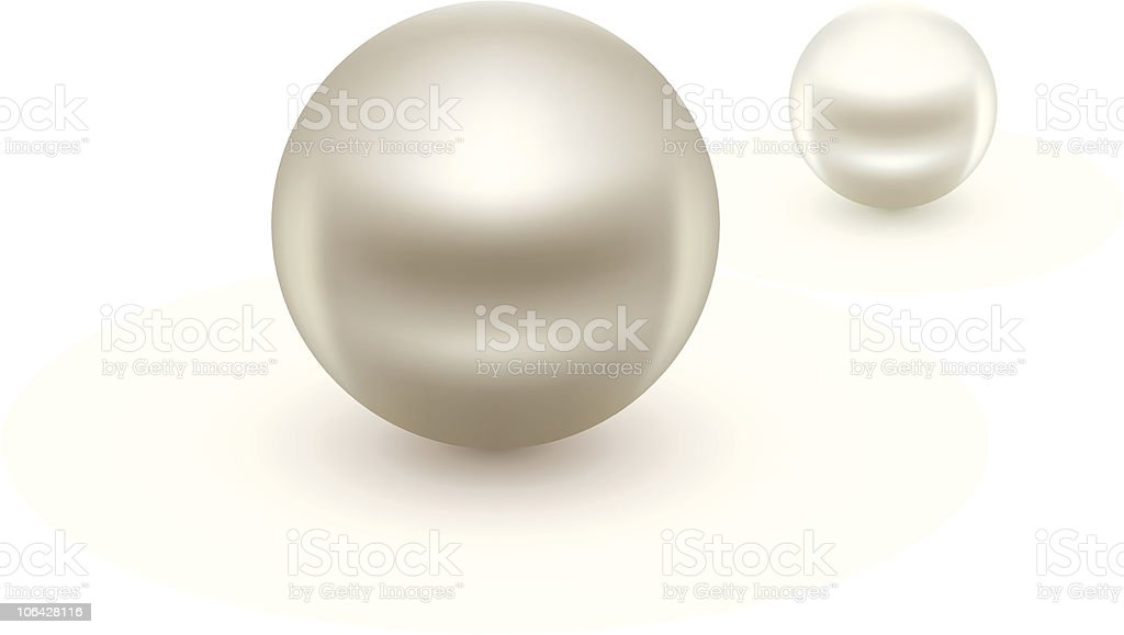 Pearls royalty-free stock vector art