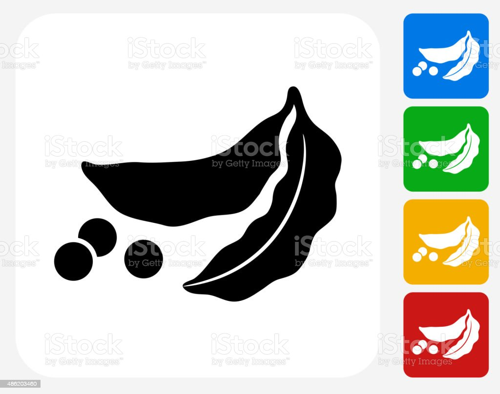 Peas Icon Flat Graphic Design vector art illustration