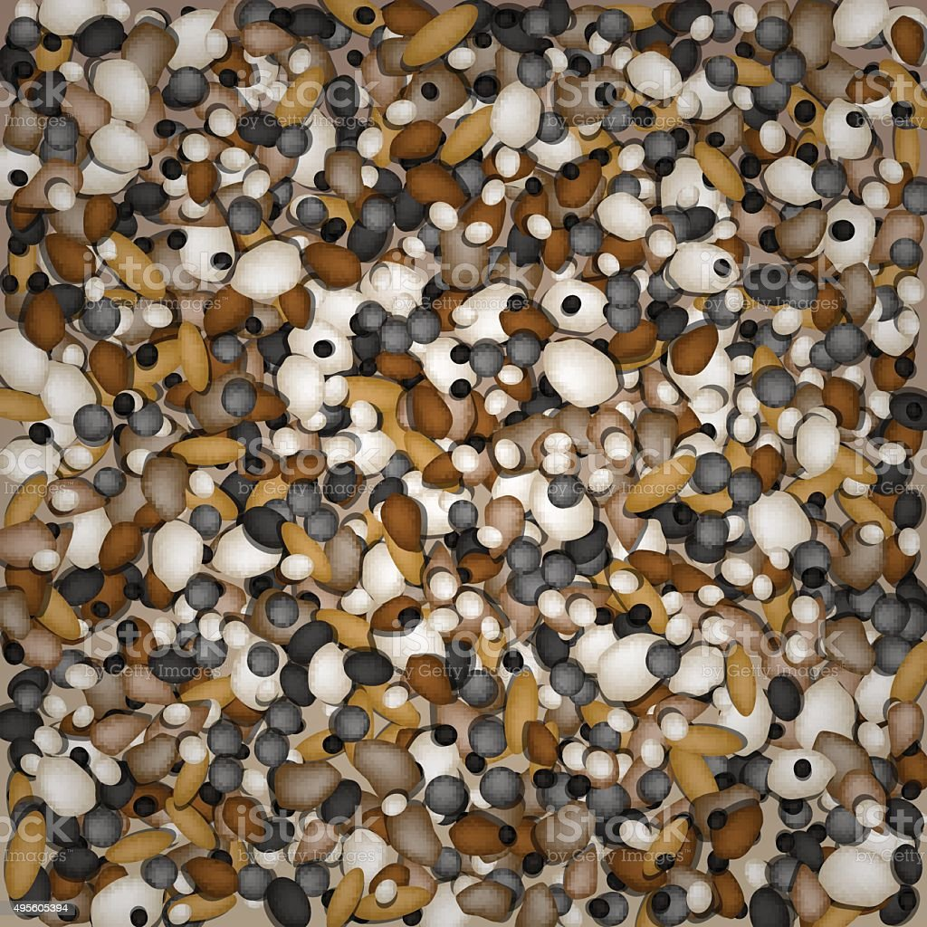 Pebbles background for design and decorate. vector art illustration