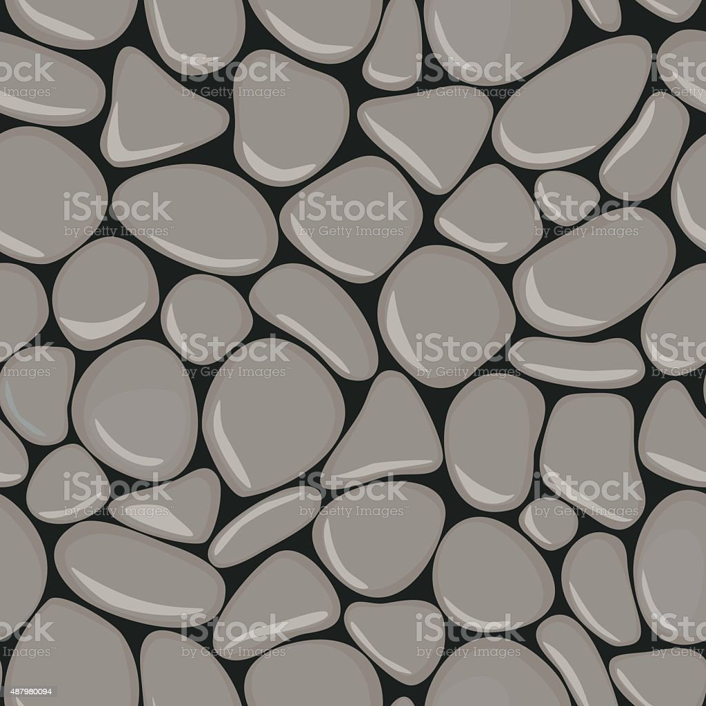 Pebbles seamless pattern. vector art illustration