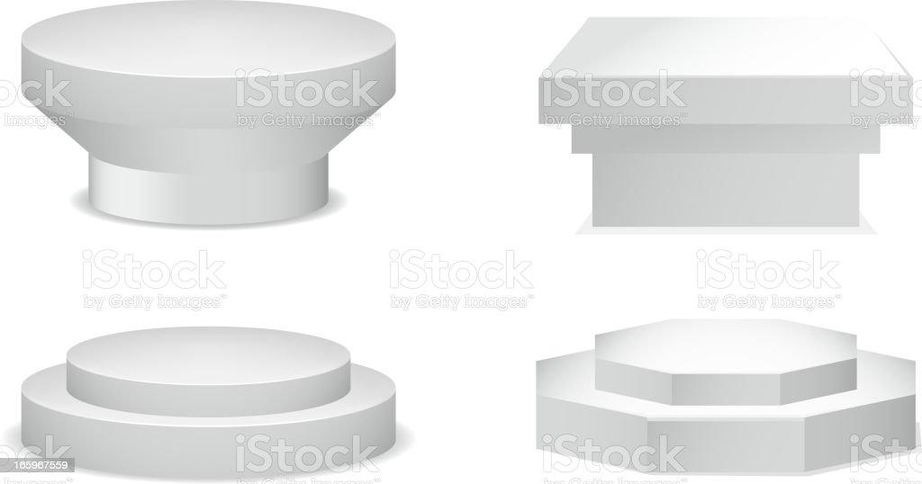 Pedestal Set vector art illustration