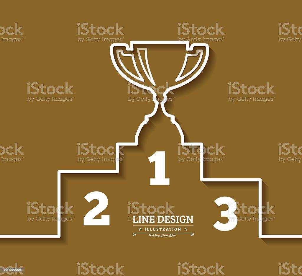 Pedestal thin line icon vector art illustration