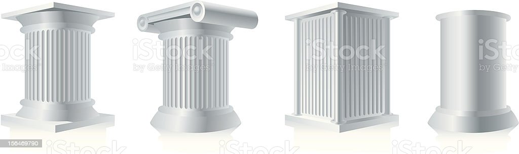 Pedestals royalty-free stock vector art