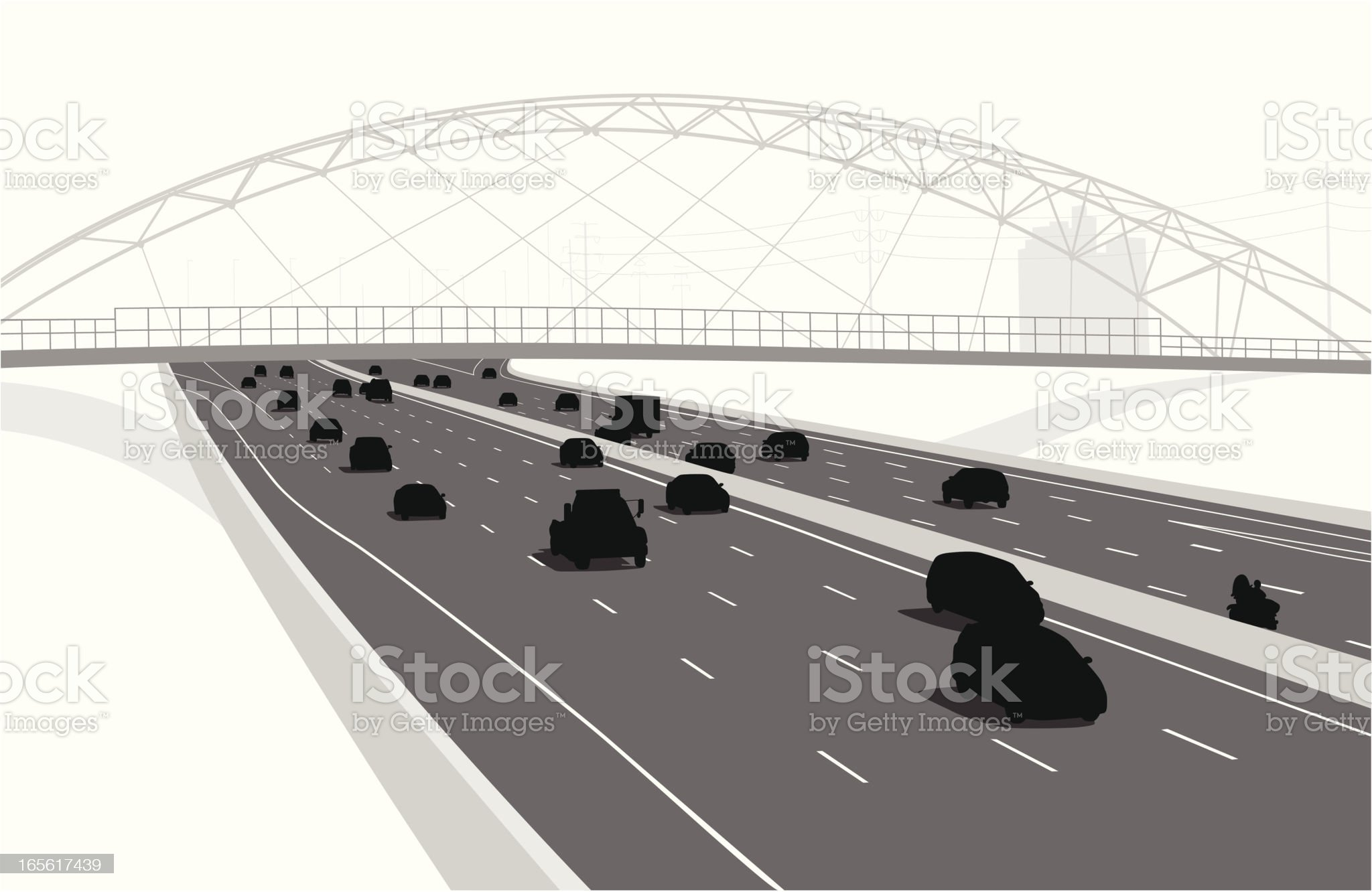 Pedestrian Architecture Vector Silhouette royalty-free stock vector art