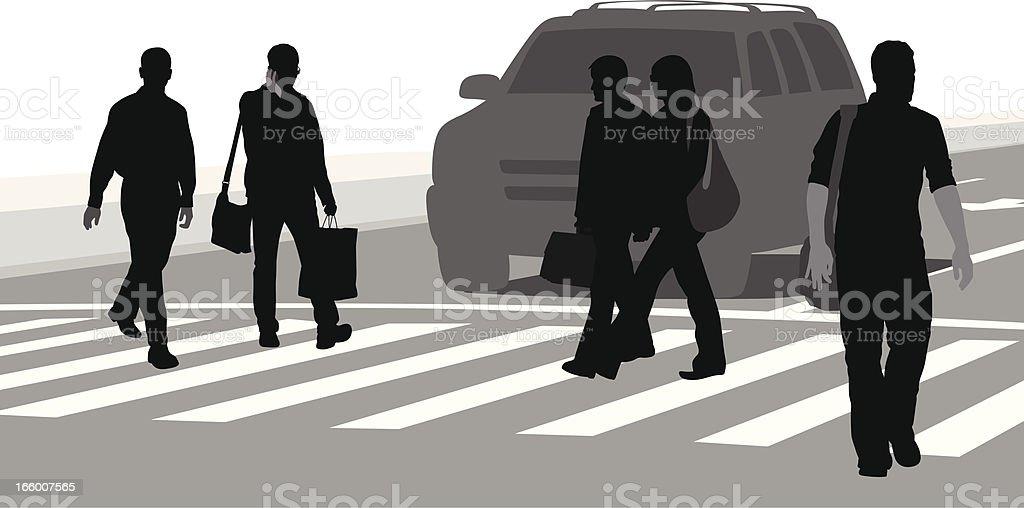Pedestrian Cellphone royalty-free stock vector art
