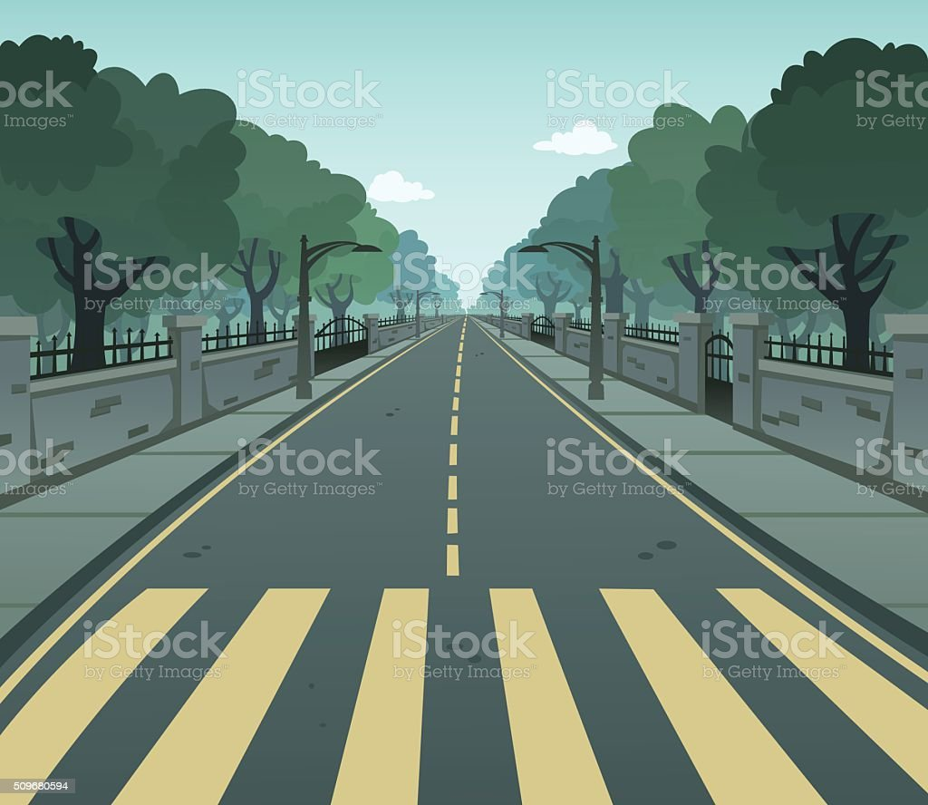 Pedestrian Lane vector art illustration