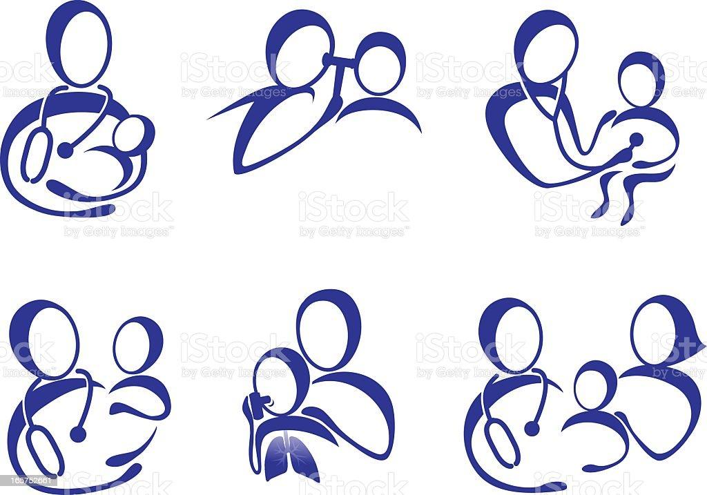 Pediatric Care vector art illustration