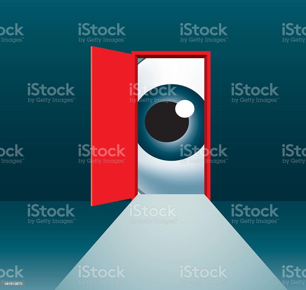 Peeking vector art illustration