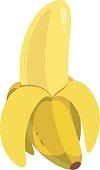 Peeled Banana Cartoon
