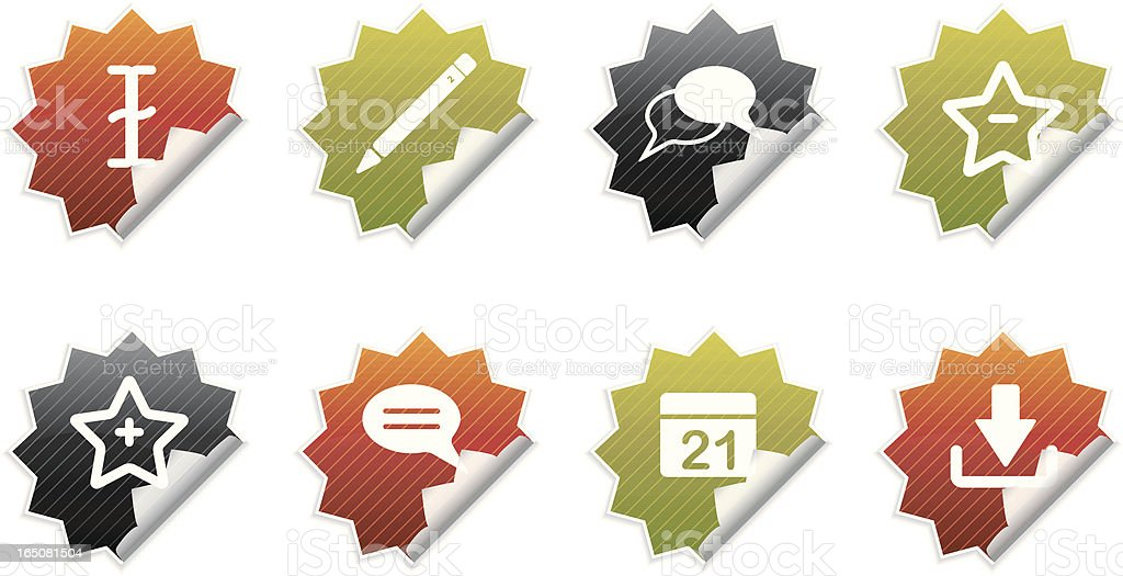 Peeling Blog Icons royalty-free stock vector art