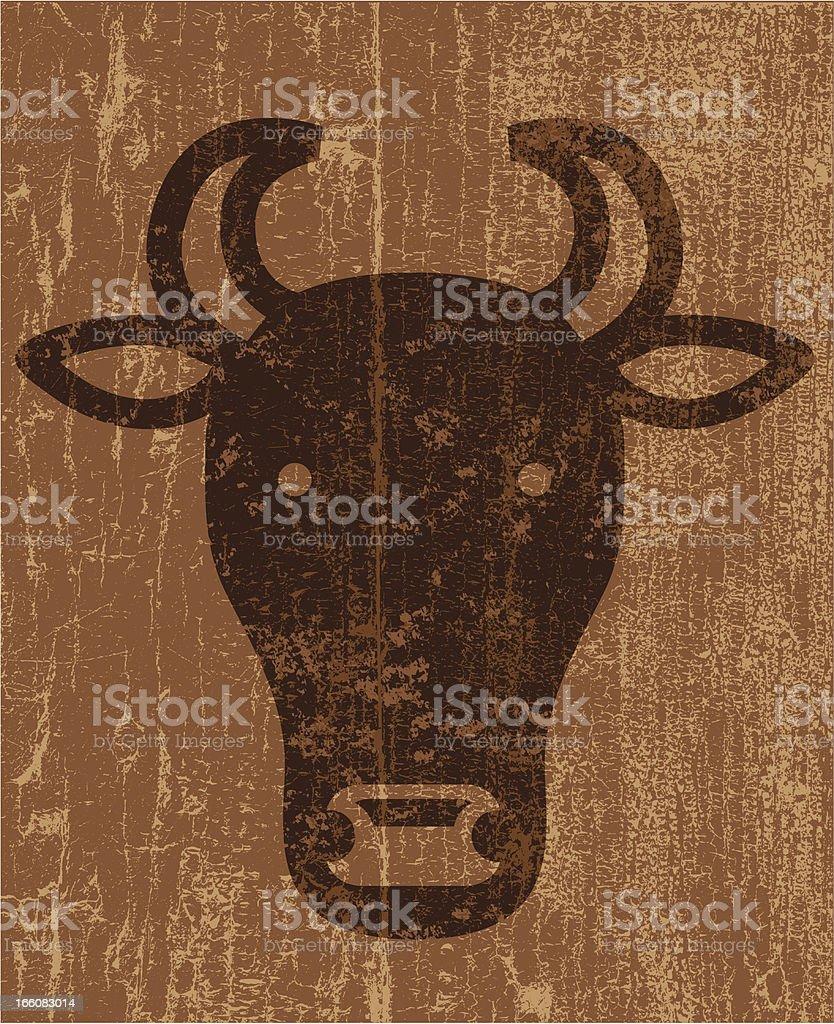Peeling paint cow royalty-free stock vector art