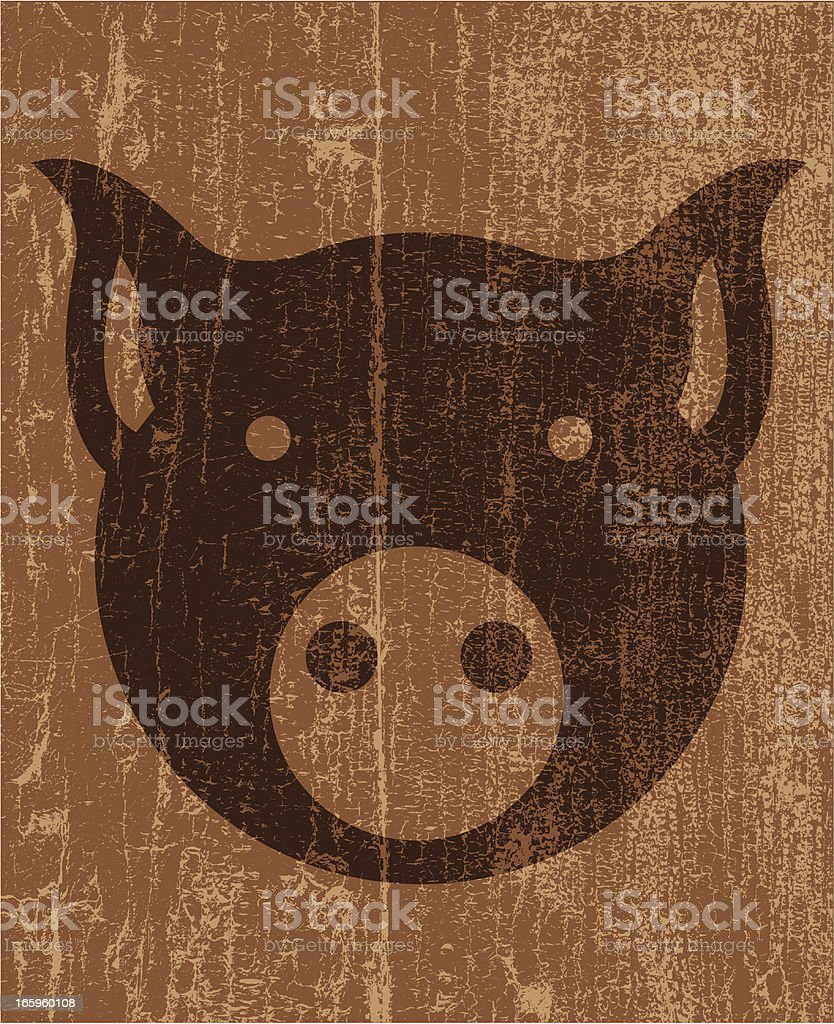 Peeling paint pig royalty-free stock vector art