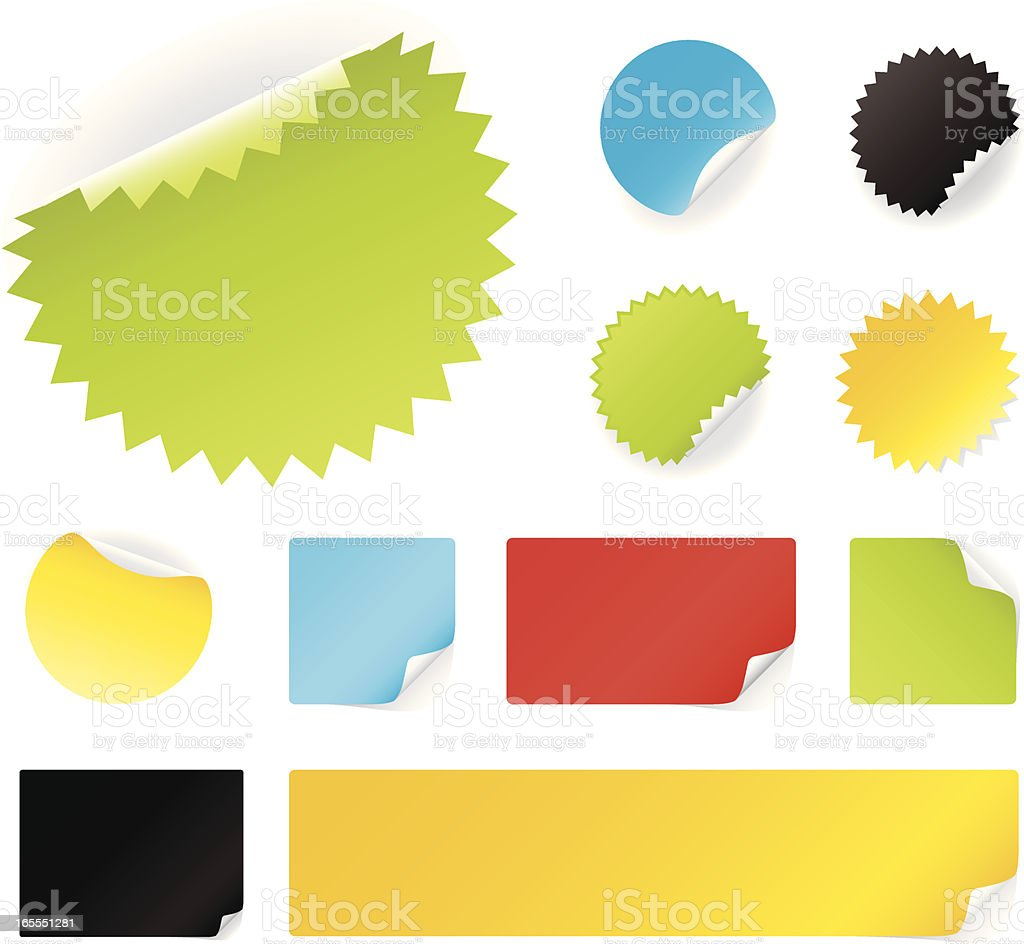 Peeling stickers royalty-free stock vector art
