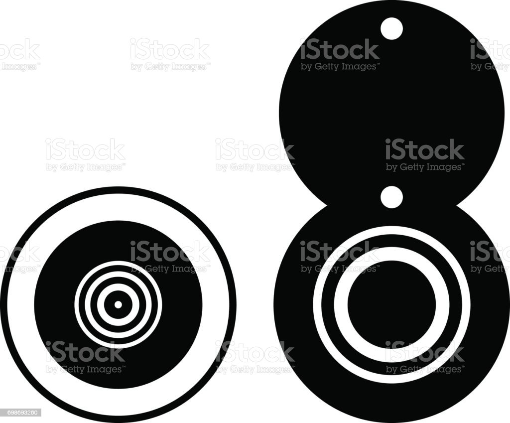 Peephole vector art illustration