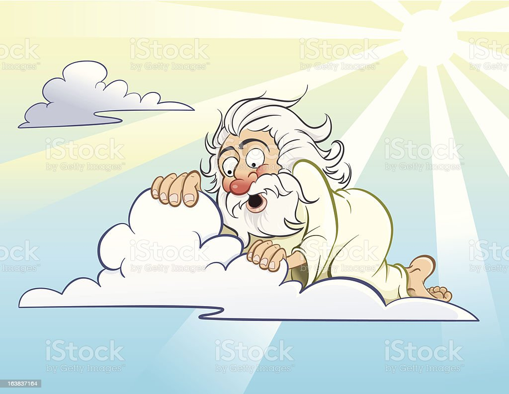 Peeping God royalty-free stock vector art
