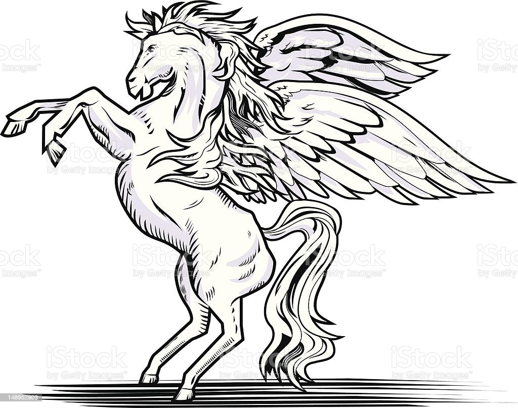 Pegasus royalty-free stock vector art