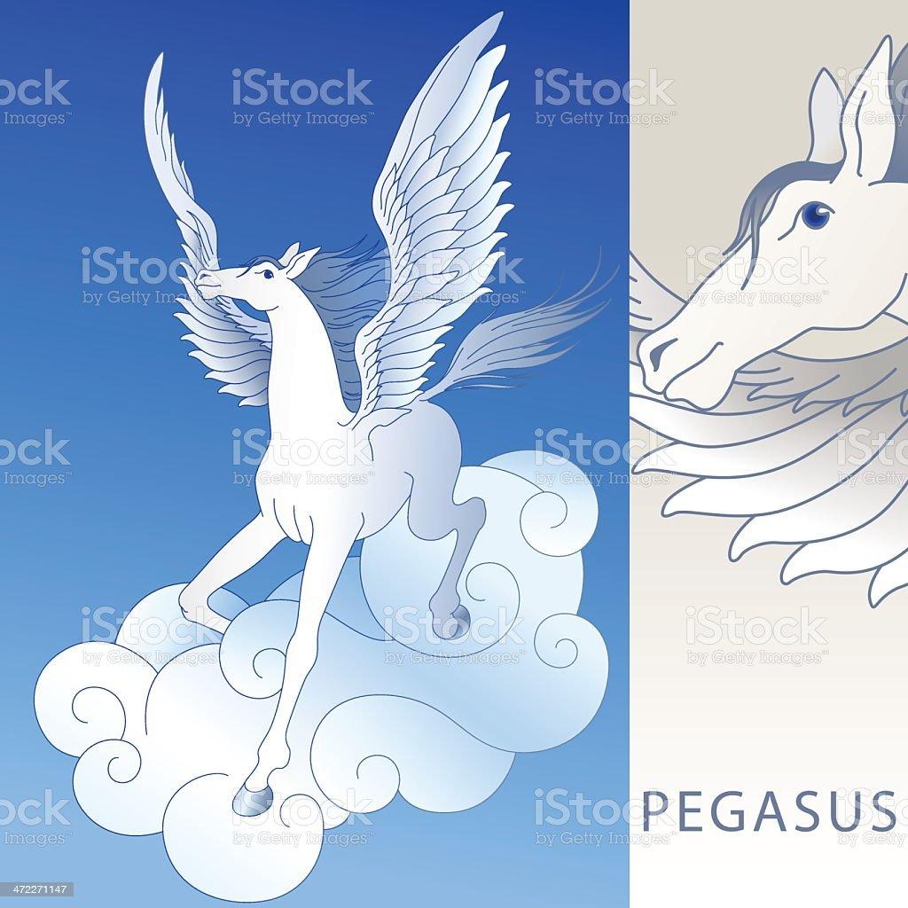 Pegasus (vector) vector art illustration