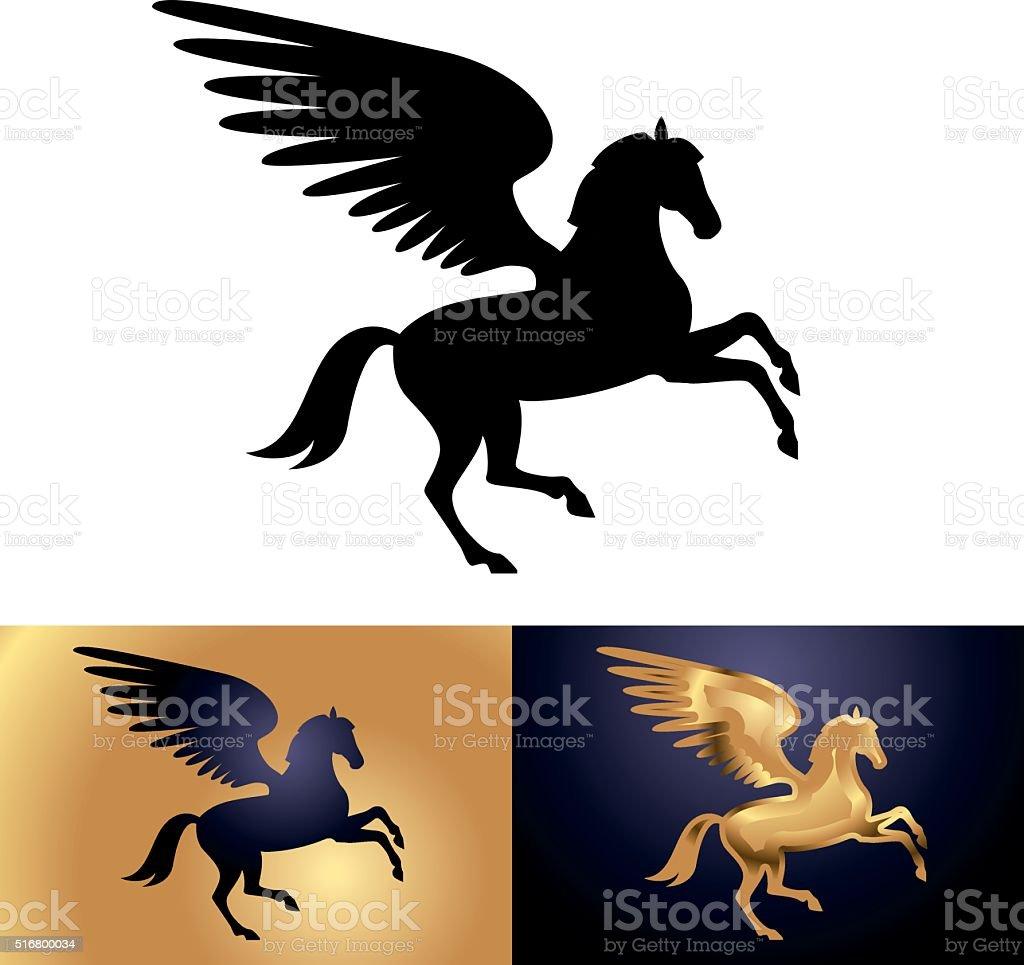Pegasus vector art illustration