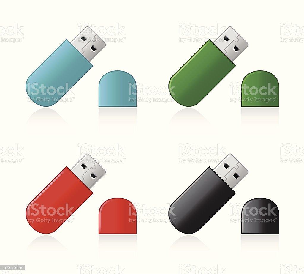 USB Pen Drive royalty-free stock vector art