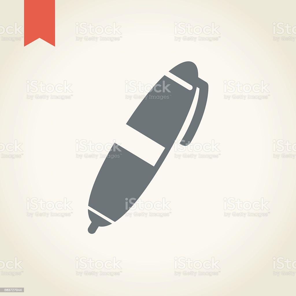pen icon vector art illustration