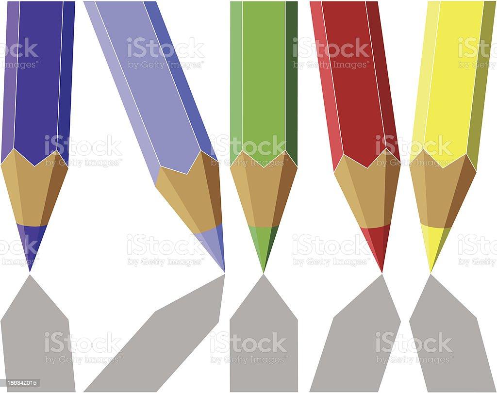 Pen set color royalty-free stock vector art