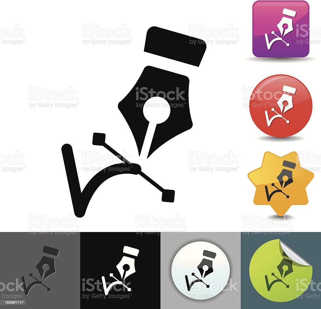 Pen tool icon | solicosi series royalty-free stock vector art
