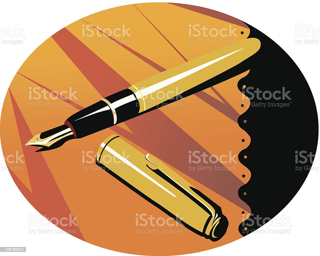 Pen royalty-free stock vector art