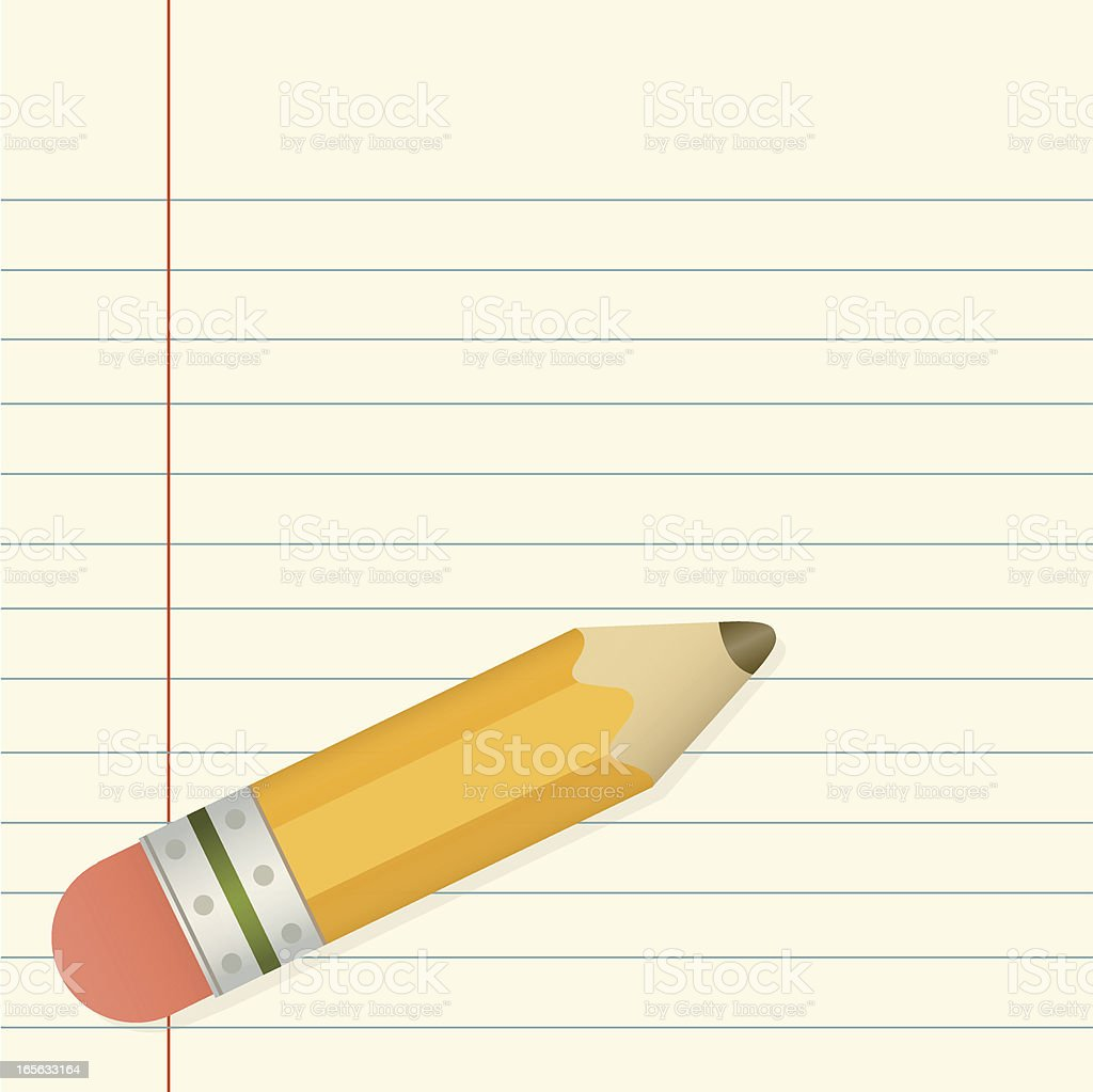 Pencil and Paper royalty-free stock vector art