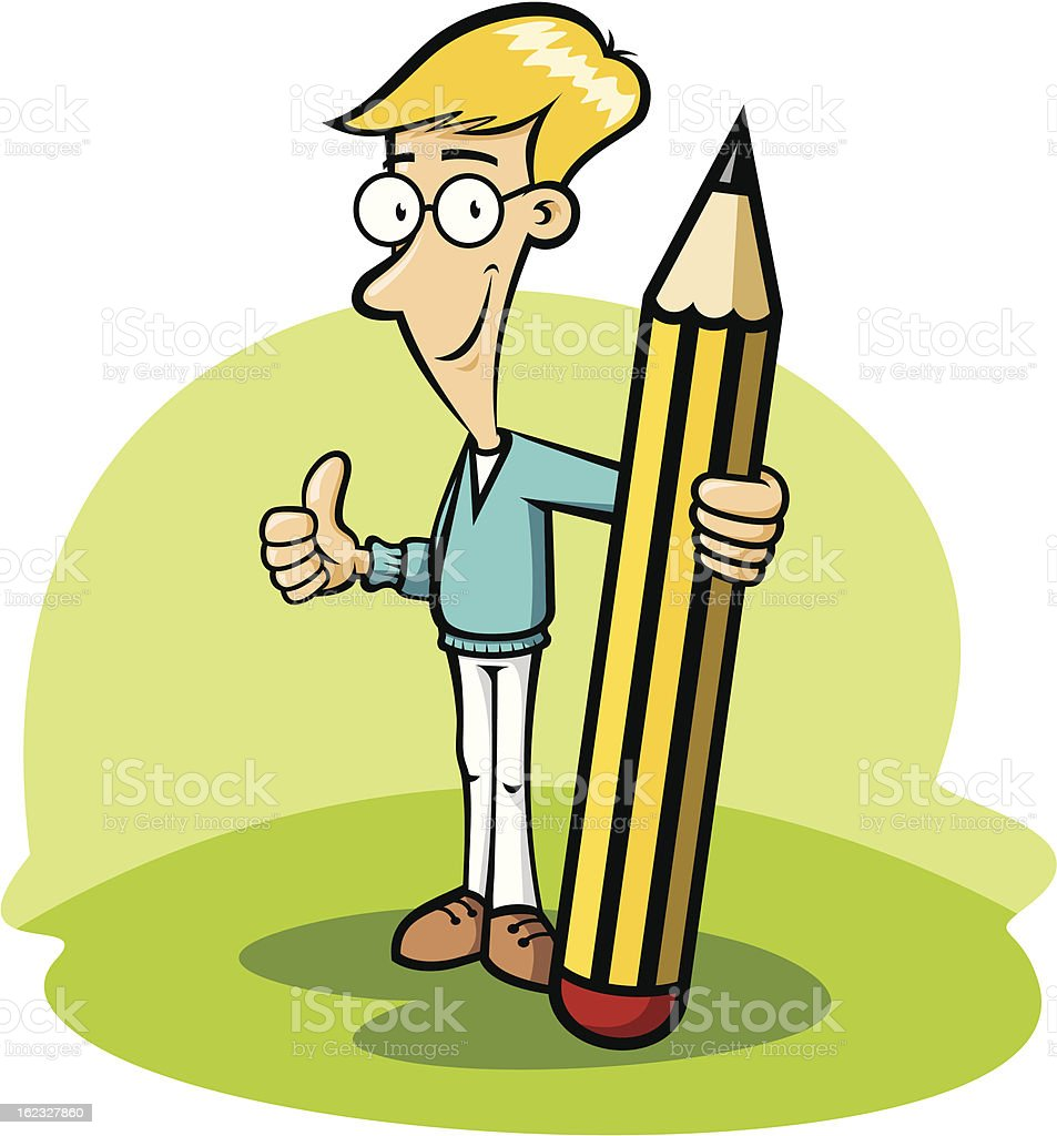 Pencil boy royalty-free stock vector art