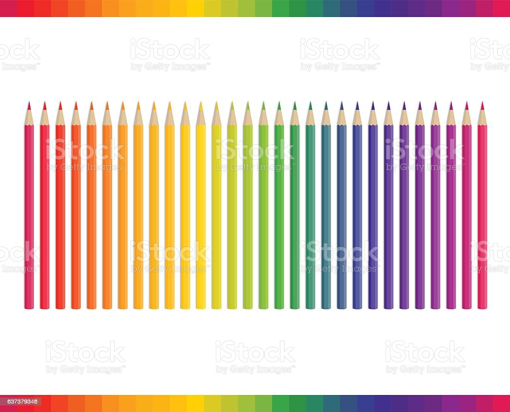 Pencil different colors vector. vector art illustration