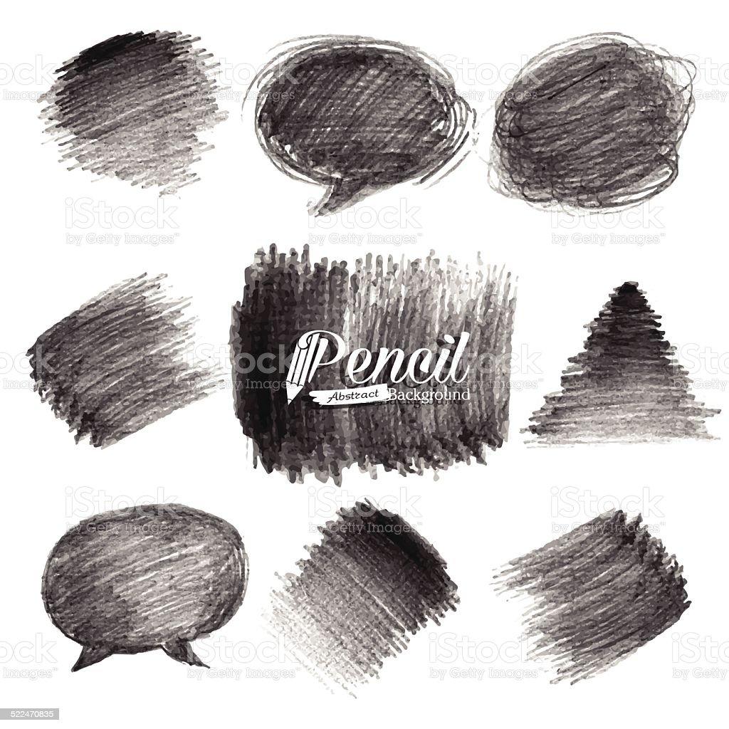 Pencil Drawing Background vector art illustration