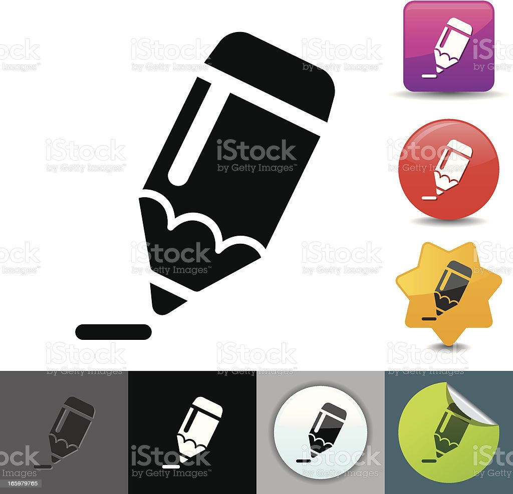 Pencil icon | solicosi series royalty-free stock vector art