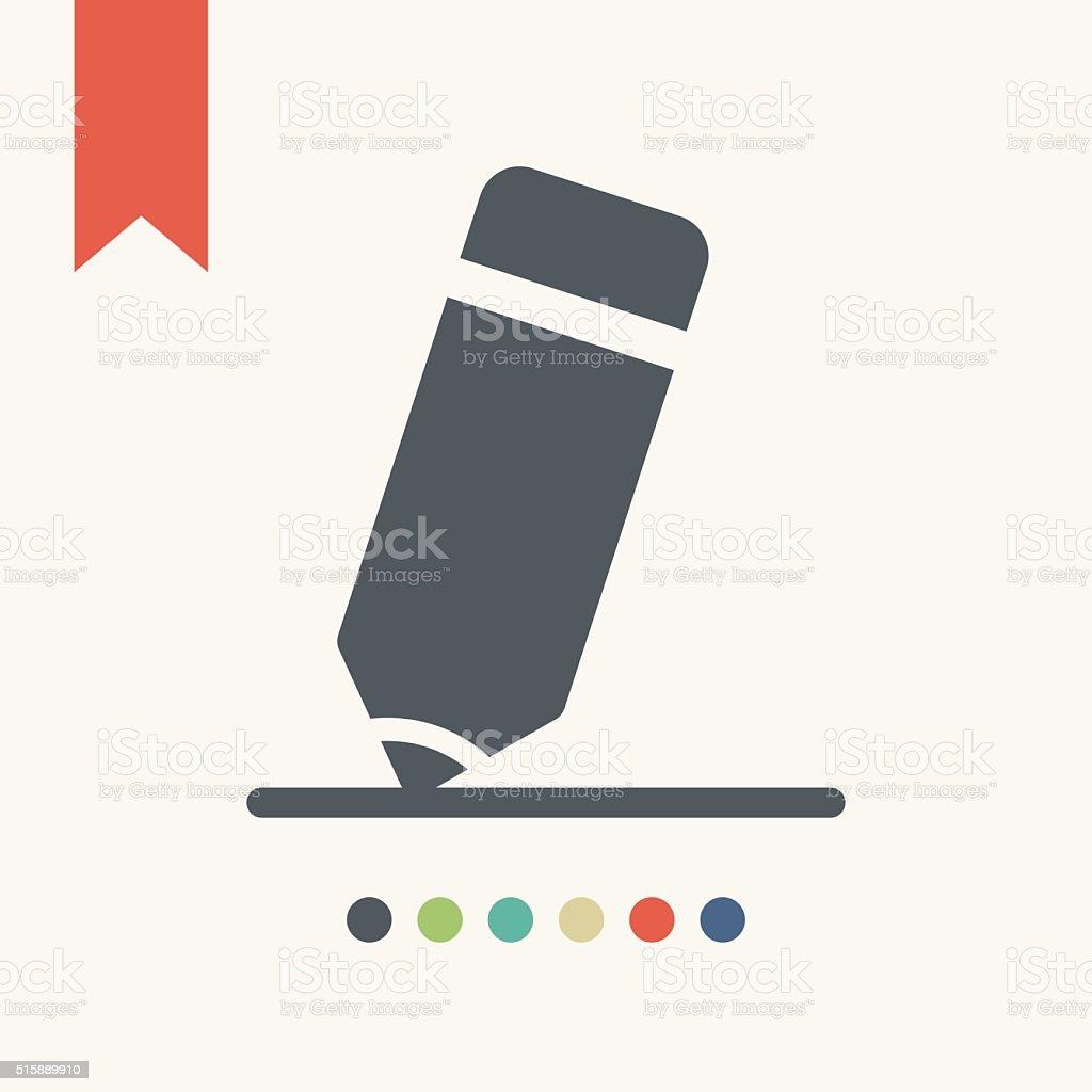 Pencil Icon vector art illustration