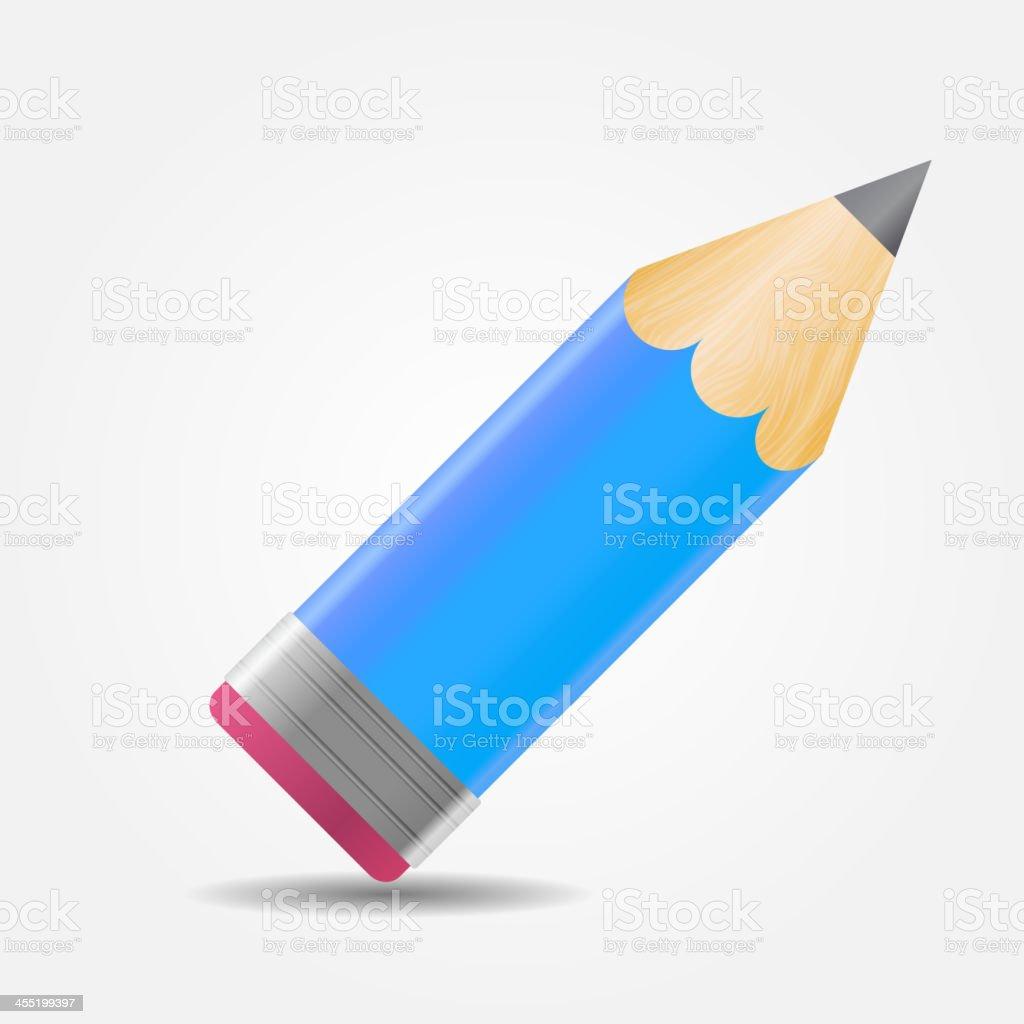 Pencil icon vector illustration royalty-free stock vector art