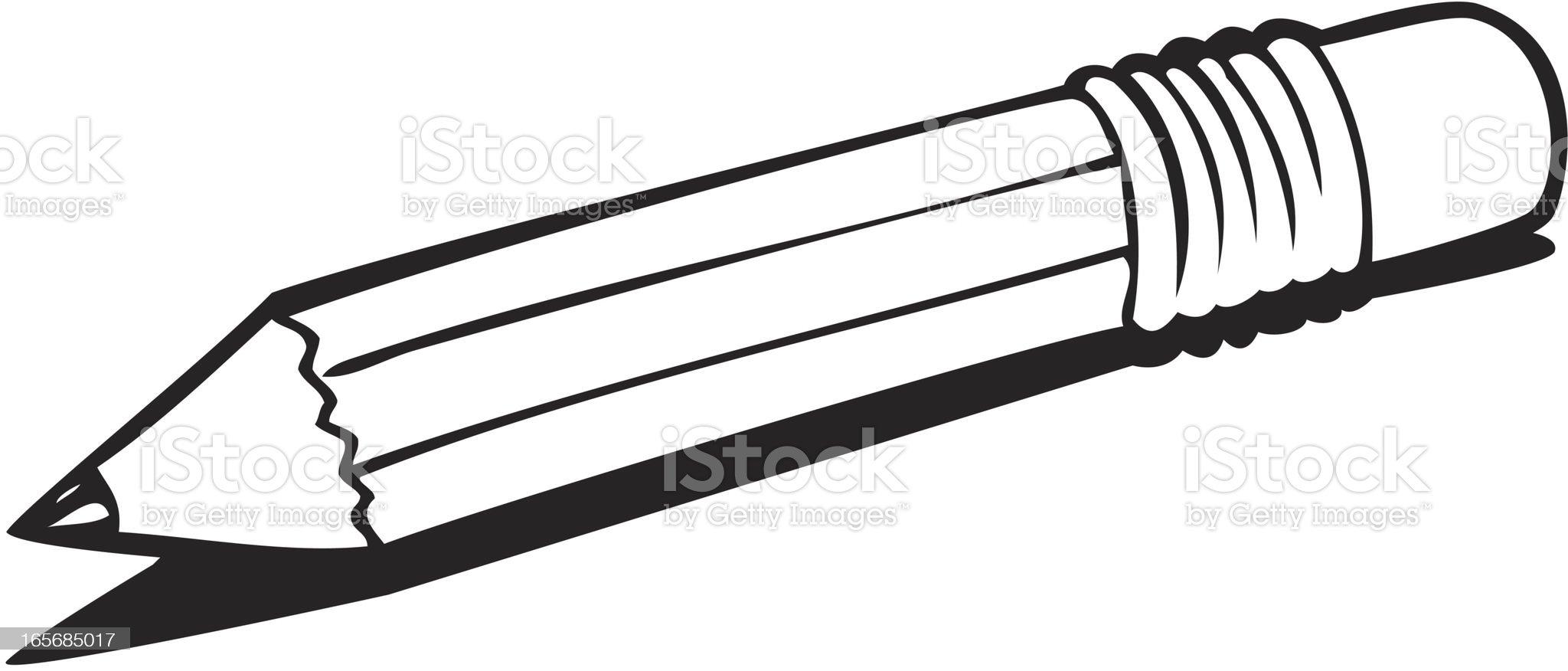 Pencil Line Art royalty-free stock vector art