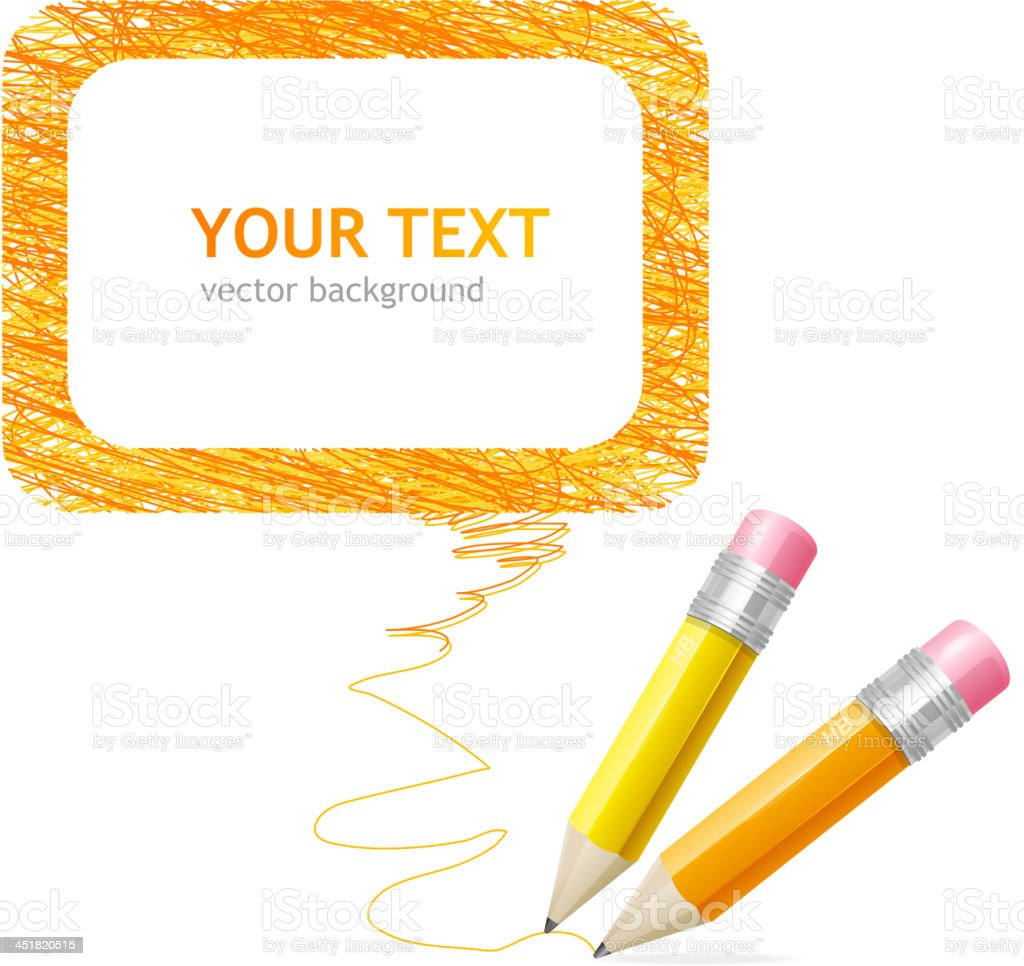 Pencil speech bubble royalty-free stock vector art