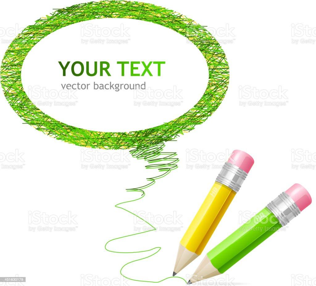Pencil speech bubble royalty-free stock vector art