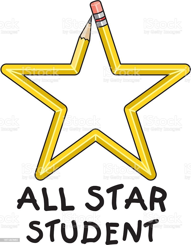Pencil Star royalty-free stock vector art