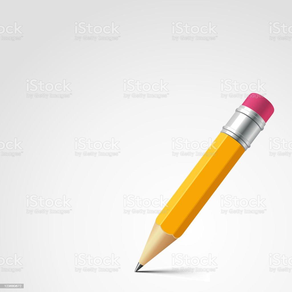 Pencil vector art illustration