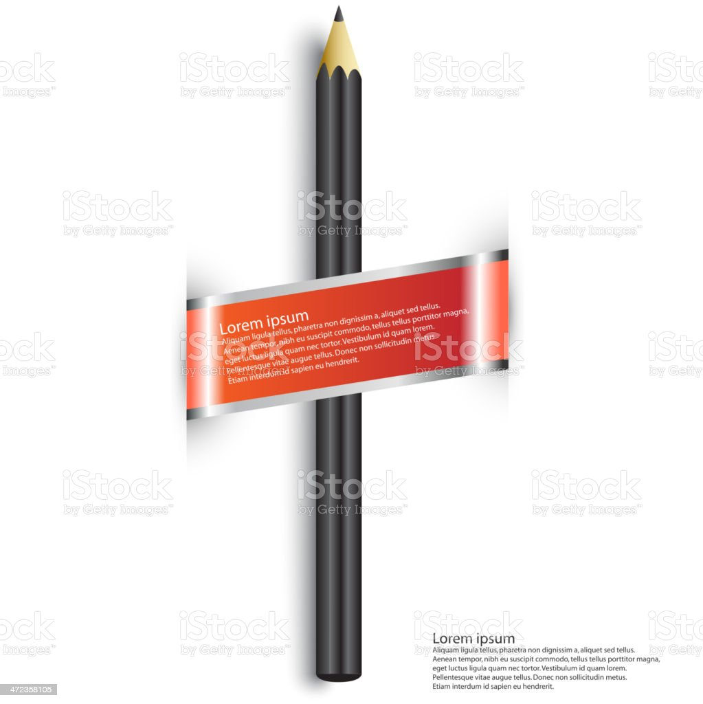 pencil royalty-free stock vector art